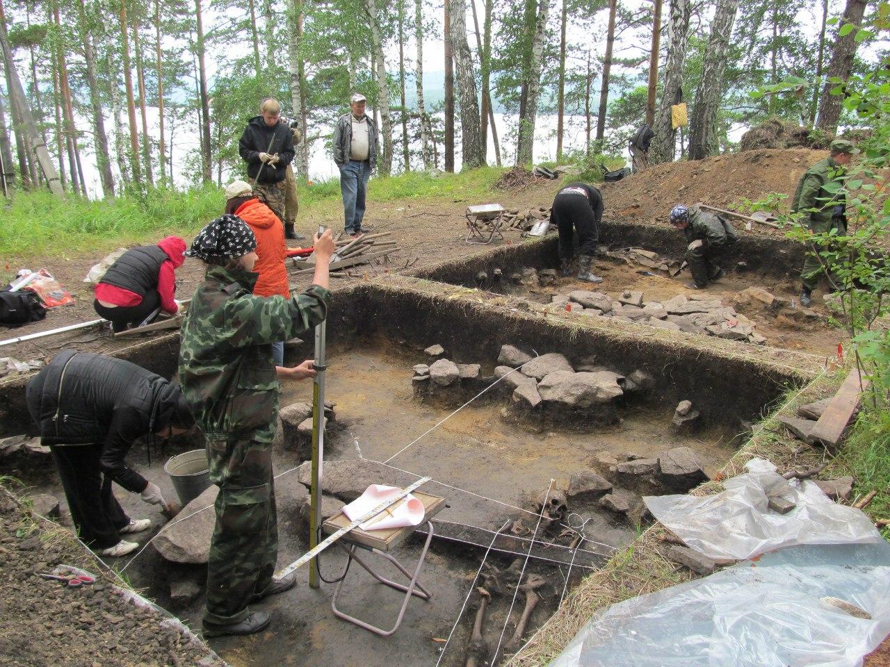 Археология. Раскоп возле дома (06.11.2014)