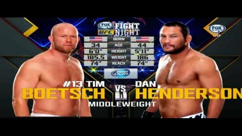 Dan Henderson vs Tim Boetsch