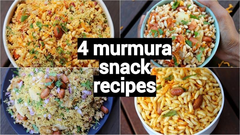 4 bhel snack recipes murmura recipes quick and easy snack recipes with murmura
