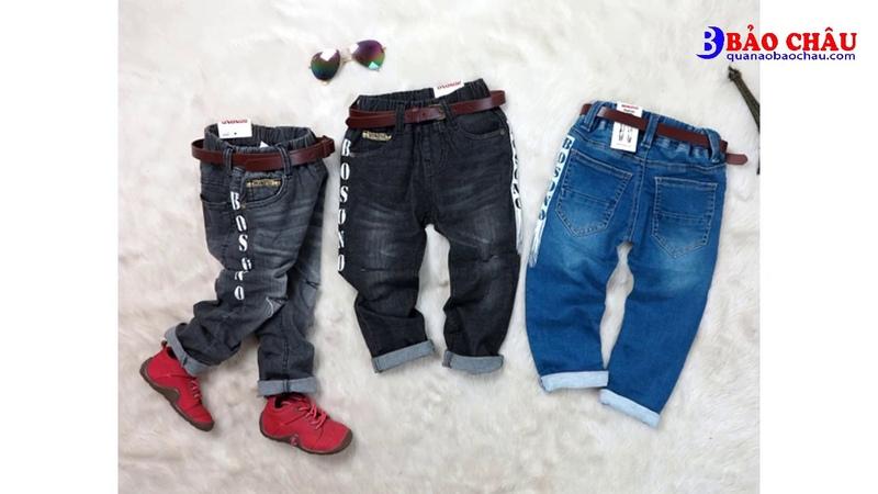 Những mẫu quần jean bé trai hàng cao cấp giá sỉ xuất Nhật
