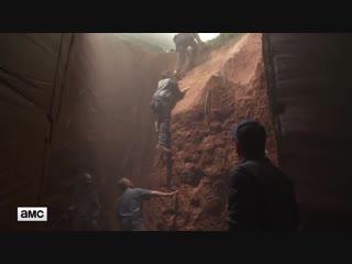 The Walking Dead S09E04 Featurette - Daryl Ricks Sinkhole Stunt