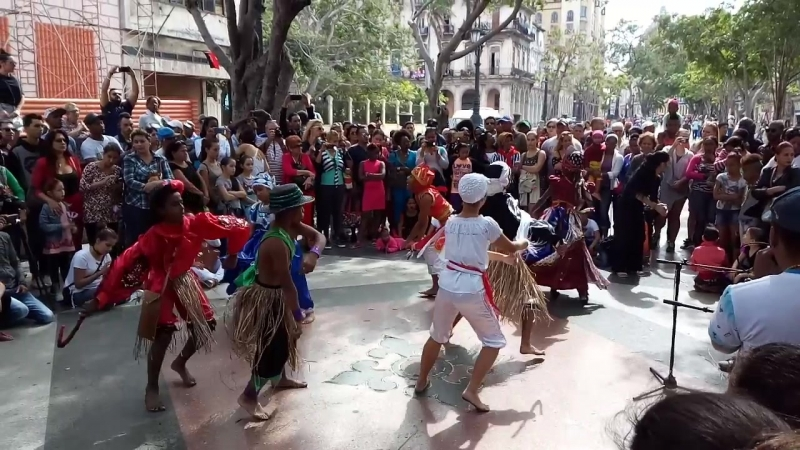 20.01.2018 Havana. Prada. Детский фольклорный ансамбль. Танцы оришей.