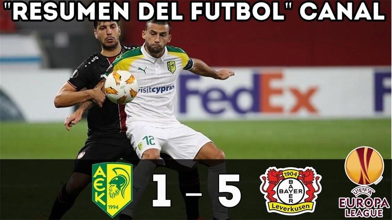 Resumen AEK LARNACA vs BAYER LEVERKUSEN 1-5 resumen y goles