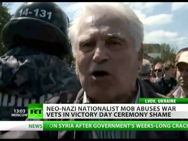 Far-right Wrong: Neo Nazi mob abuses war vets in Ukraine