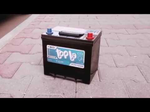 Заморозка аккумулятора Topla Top на 32-градусном морозе подо льдом