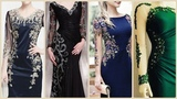 Latest And Stylish Side Embroidery And Embroidered Sleeves Prom And Engagement Dress