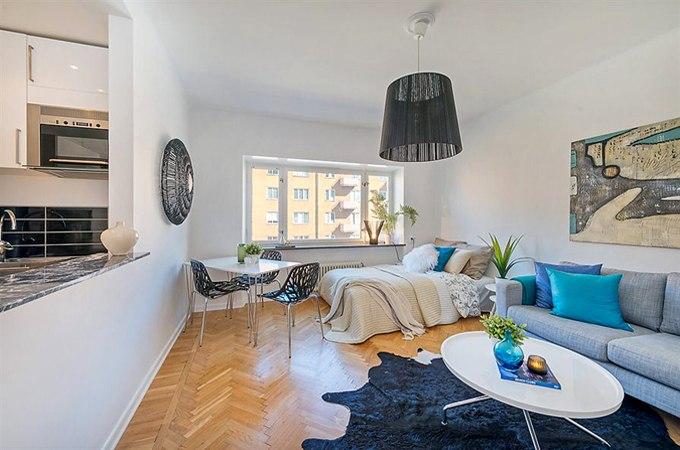 Квартира-студия 29 м в Стокгольме / Швеция - http://kvartirastudio.