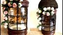 Glass jar decor ,Reverse decoupage on glass