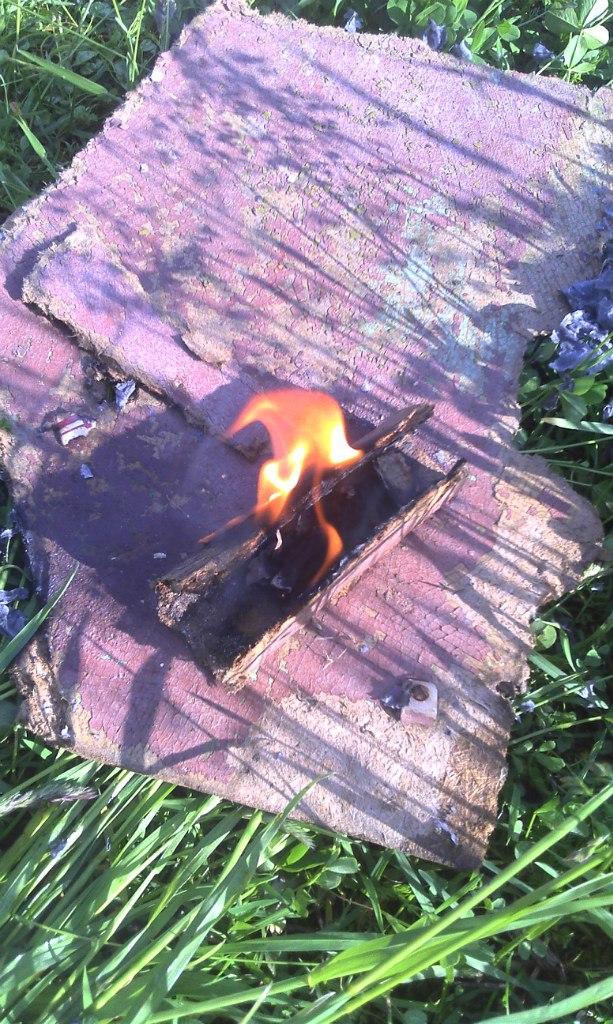 огонь лупой