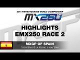 Талавера Де Ла Рейна (Испания), ЧЕ по Мотокроссу в классе ЕМХ250 2014 - лучшие моменты второго этапа часть 2
