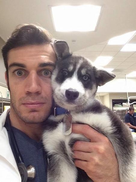 Эван Антин-ветеринар из Калифорнии Evan Antin 31-летний ветеринар из Калифорнии, покоривший интернет оригинальными фотографиями со своими пациентами, которые публикует в социальных сетях. В 2015