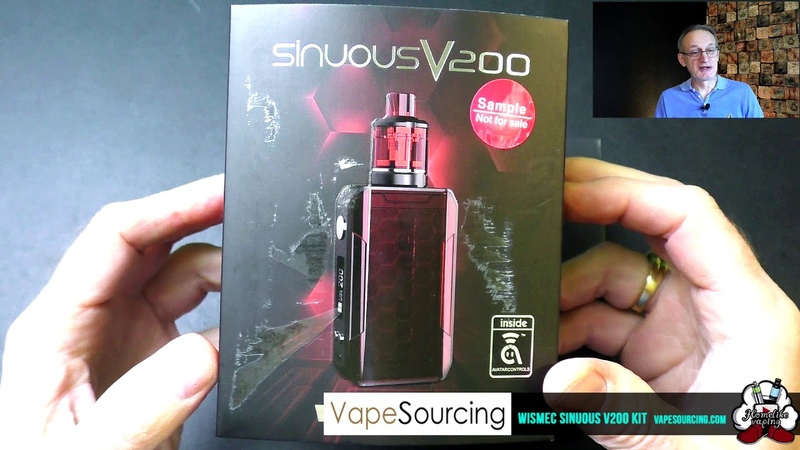 WISMEC SINUOUS V200 Kit с баком Amor NSE от VapeSourcing homelike,