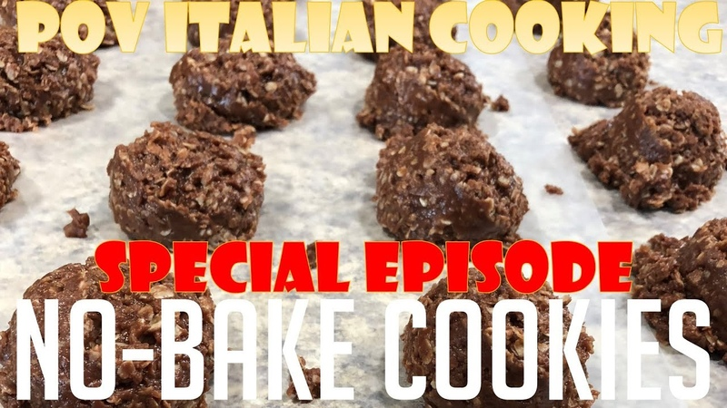 No Bake Peanut Butter Oatmeal Cookies POV Italian Cooking Special Episodes