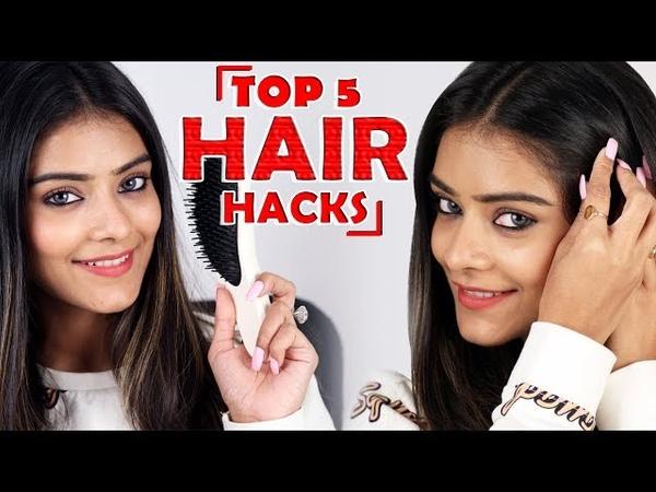 Top 5 Hair Hacks   Easy Hair Hacks For Girls   Hair Hacks Tutorial   Foxy Makeup Tutorials