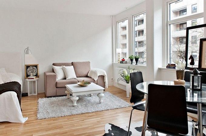 Дизайн интерьера квартиры-студии 35 м в Гётеборге / Швеция - http://kvartirastudio.