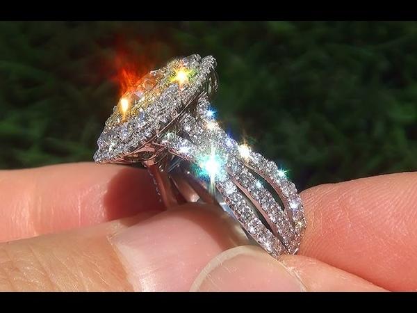 EGL USA Certified VS2 Natural Fancy Yellow Diamond 18k Engagement Ring Pendant - C497