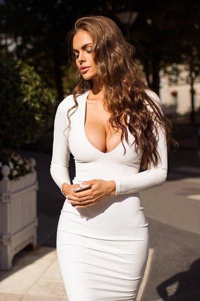 Nude breast massage