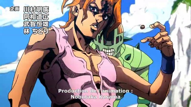 60 FPS Jojo's Bizarre Adventure Opening 9 Golden Wind OP 2 1080p60 Uragirimono no Requiem
