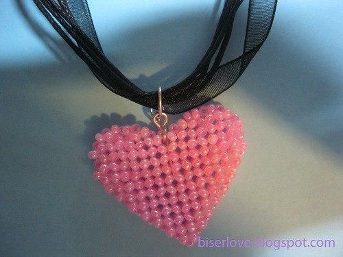 Сердце из бусин мастер класс с пошаговым фото