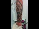 Татуировка стиль чикано фрагмент рукава