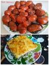 Картофельная запеканка с фаршем и яйцами