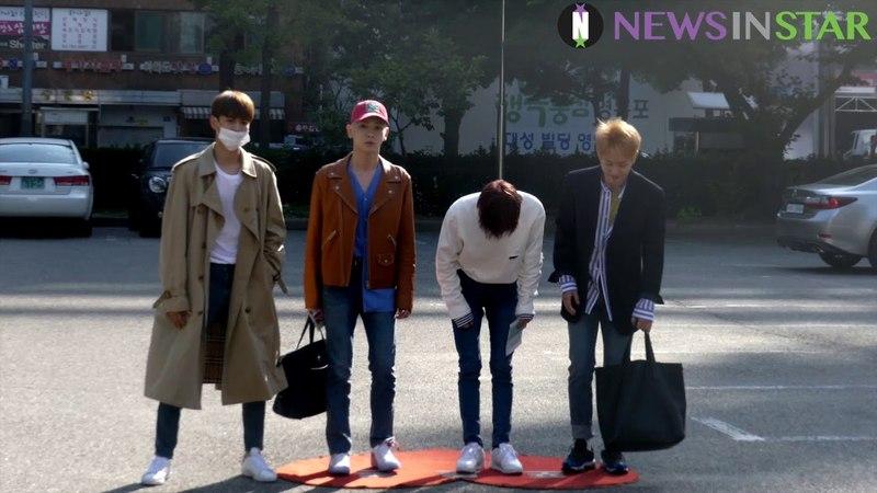[뉴스인스타] 180601 KBS 뮤직뱅크 샤이니(SHINee) 출근길 현장 영상 공개