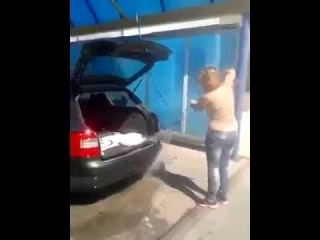 Car Washed by A Woman