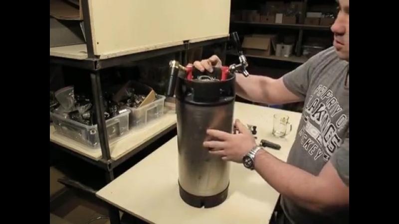 Кег Корнелиус. Установка крана и адаптера CO2