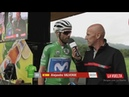 La Vuelta etapa 15 control de firmas salida Ribera de Arriba
