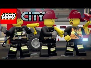 LEGO City - Свет, камера, мотор!. ЛЕГО Сити мультик про пожарную машину для детей