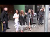 Little Mix leaving an Office building in NYC 02-04-14
