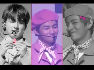 That cute moment when jungkook slipped a cut-out heart in taehyung's beret .mp4