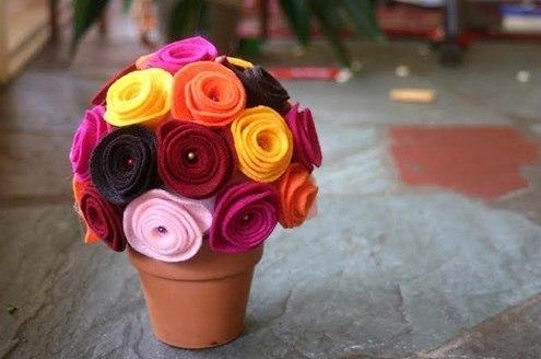 Роза из фетра своими руками с пошаговым