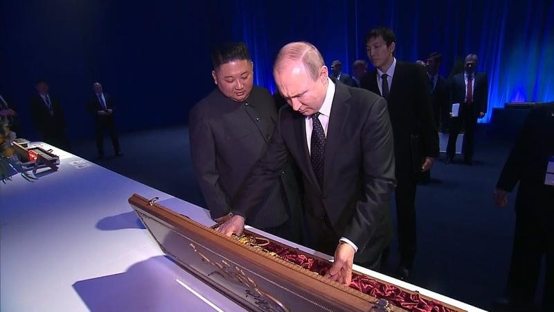 La force et l'âme du peuple: Kim Jong-un a offert une épée à Poutine