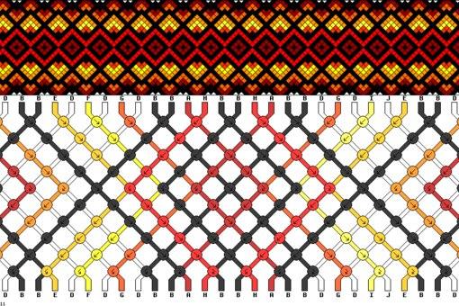 Схемы косого плетения :З