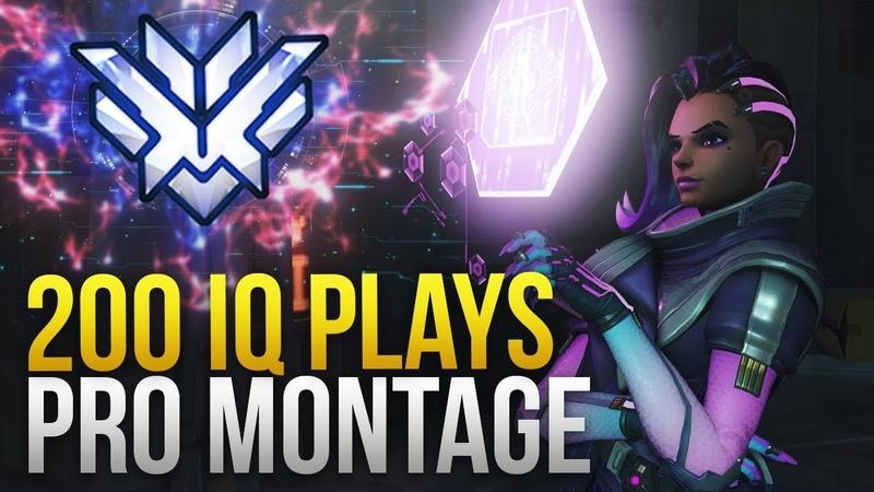 When Pros Make 200 IQ Plays Montage - Overwatch Montage