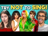 College Kids React To Try Not To Sing Along Challenge