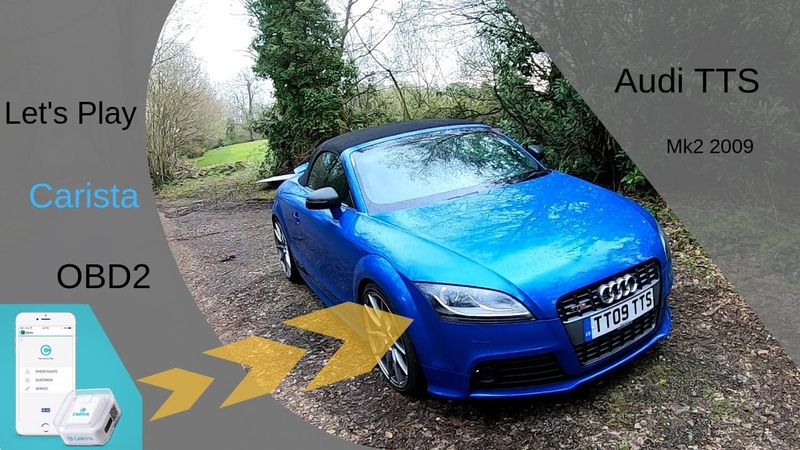 Playing with Carista OBD2 Audi TTS mk2 2009 features