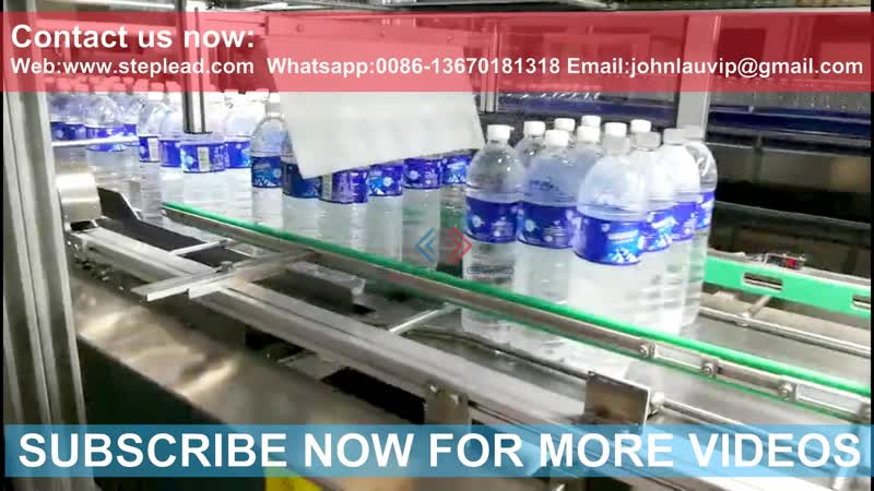 STEPLEAD automatic shrink film packaging machine, bottle wrapping machine -2019 (HIGH SPEED)