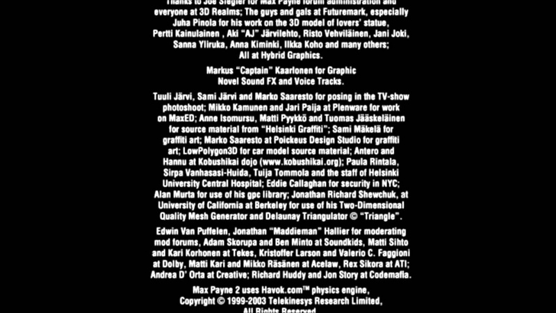 Max Payne 2 - прохождение 26 (эпилог титры мысли об игре)