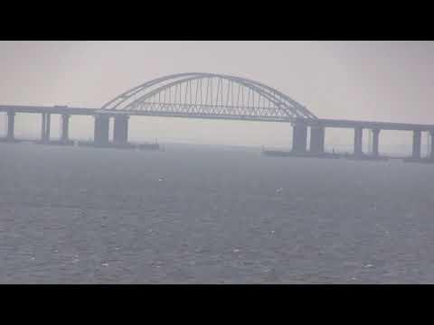 Керченский мост. Вид от- службы проводки судов.Керчь.