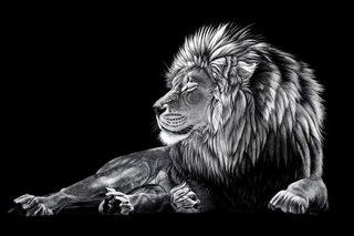 """Оригинал - Схема вышивки  """"Спящий лев """" - Схемы вышивки - Gelya2009 - Авторы - Портал  """"Вышивка крестом """" ."""