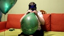 Blowing 5 Belbal 14 green Сamouflage (3 with Helium tank, 2 by mouth)