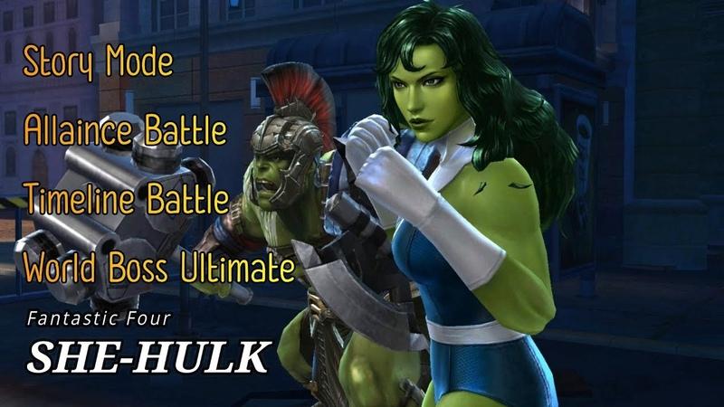 [MFF] Tier-2 She-Hulk (Fantastic Four) Gameplay