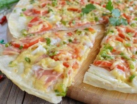 Пицца на лаваше в духовке