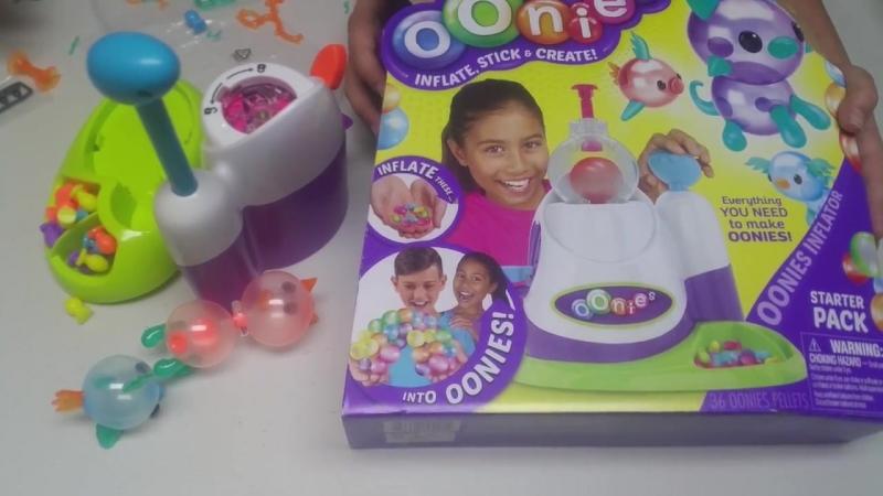 Распаковка игрушки Унис Липкие шарики Unpackaging OOnies Toy