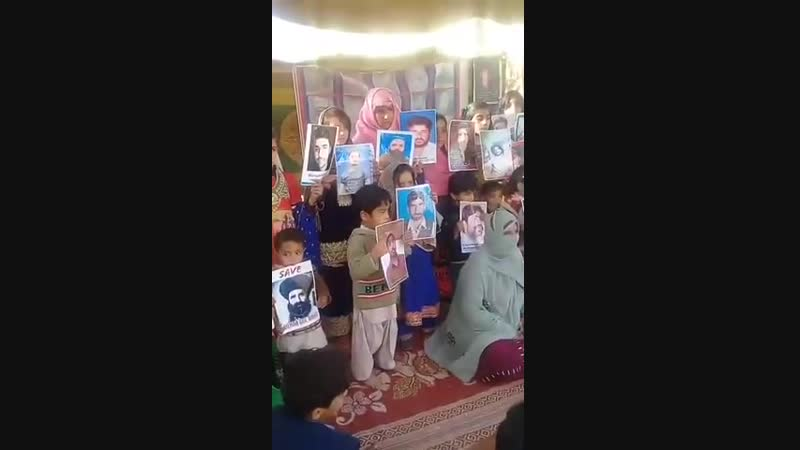 A bunch of Criminals (Punjabi Army) in Pakistan abducted Millions of Muslims from their Homes PTM