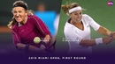 Victoria Azarenka vs Dominika Cibulkova 2019 Miami Open First Round WTA Highlights