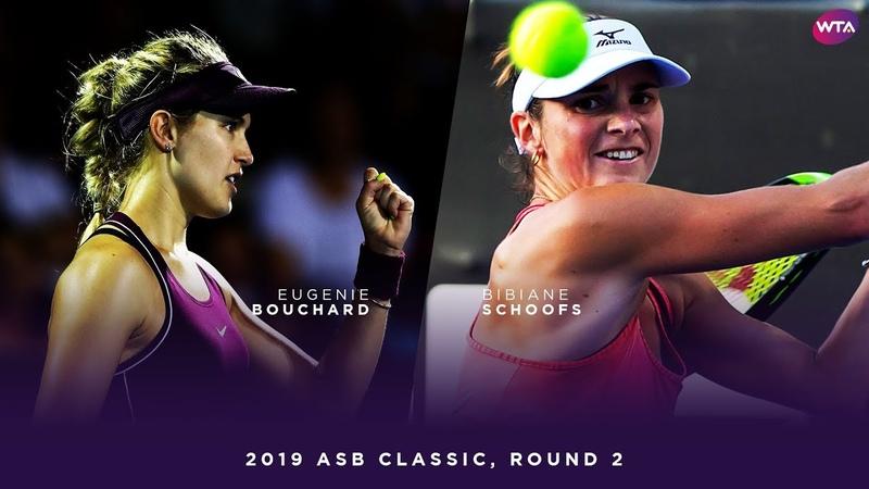 Eugenie Bouchard vs. Bibiane Schoofs   2019 ASB Classic Second Round   WTA Highlights