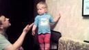 Разговор маленькой дочки с папой , громко говорит!